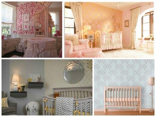 imagens de decoração com papel de parede infantil