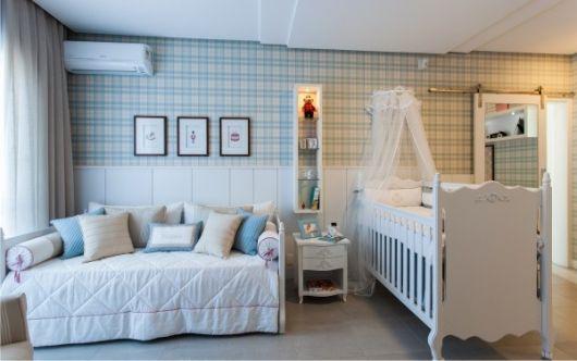 papel de parede para quarto de bebê provençal