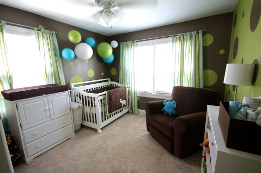decoração para quarto de bebê moderno