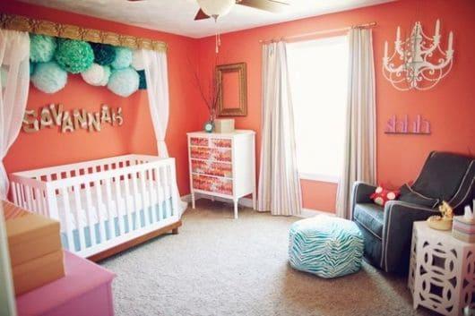 quarto de bebê provençal moderno