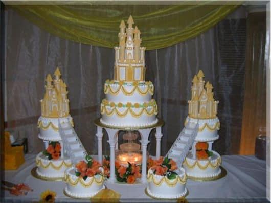 bolo castelo da bela e a fera
