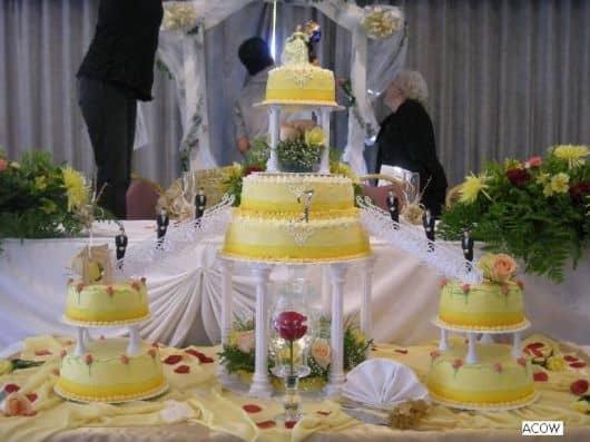 bolo da bela e a fera