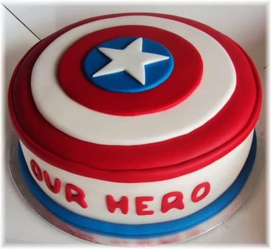 Como fazer bolo capitão américa
