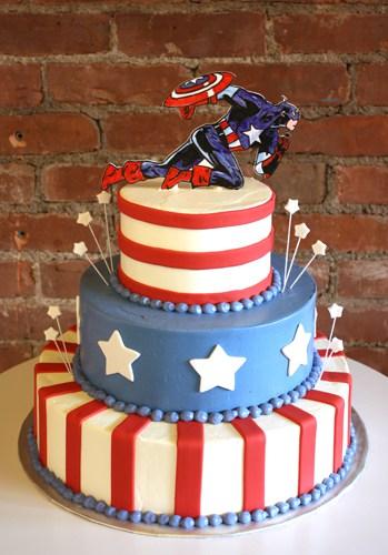 Decoração para bolo do capitão américa fácil