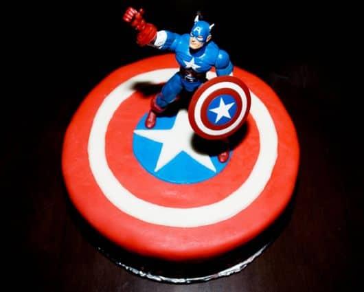 Dicas de bolo capitão américa