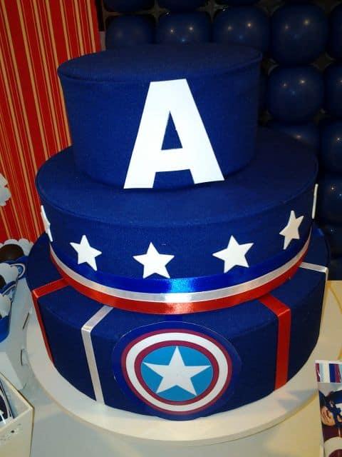 Fotos de bolo capitão américa