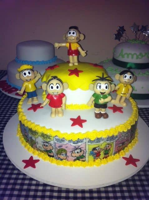dicas de bolo enfeitado com tema da Mônica