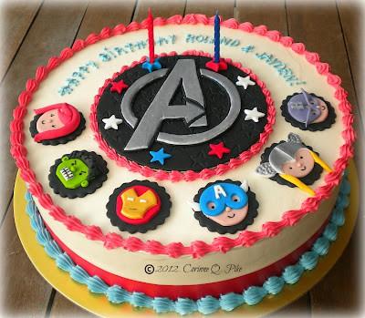 bolo para festa dos vingadores baby
