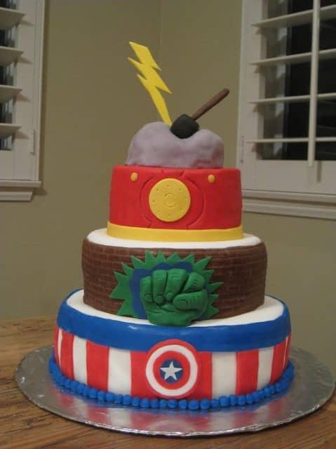 aniversário com heróis do filme Vingadores