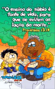 Ensinando versículos brincando