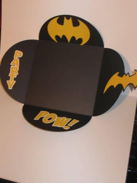 Modelo de convite do Batman