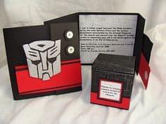 convites personalizado Transformers