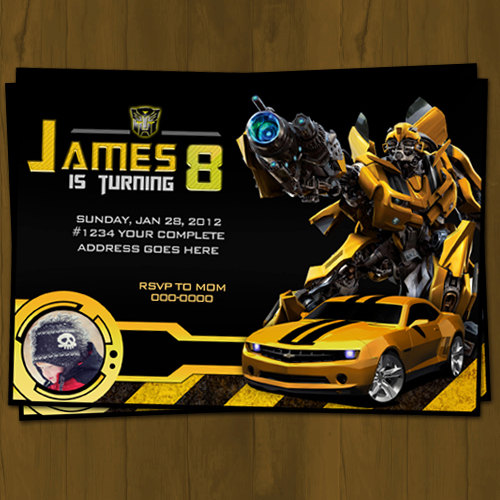Transformer Invitations is best invitation template