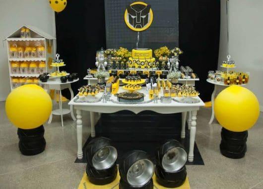decoração de festa dos transformers