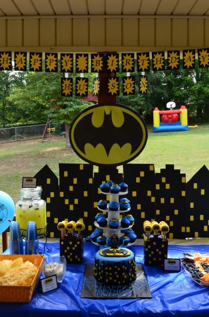 como organizar uma festa do batman