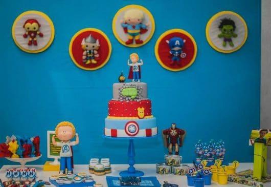 decoração festa dos vingadores baby