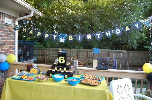 festa de aniversário infantil do batman simples