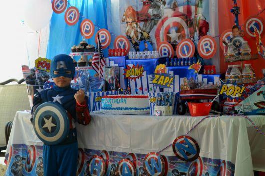 fotos festa capitão américa