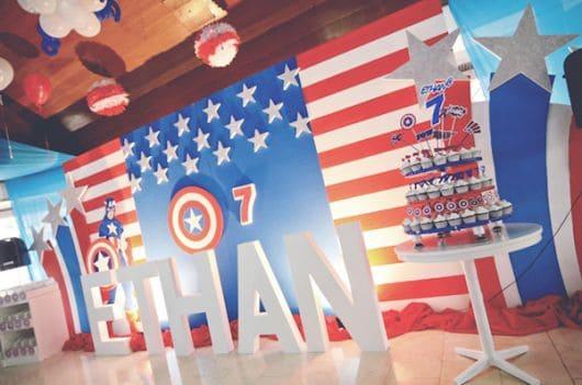 como fazer festa capitão américa
