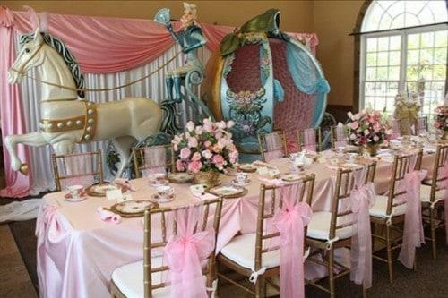 festa da cinderela azul e rosa