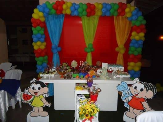 festa temática turma da mônica simples