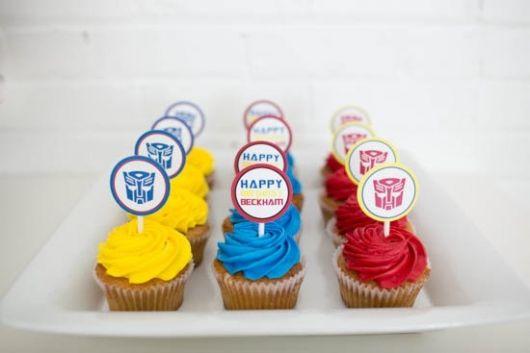 cupcakes Transformers personalizados