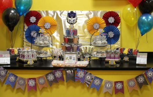 decoração festa transformers