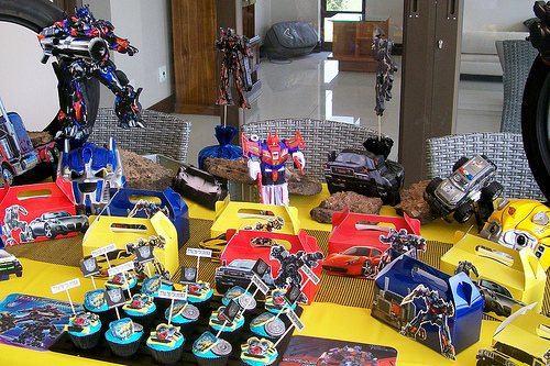 festa transformers infantil