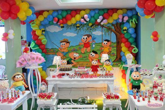 como decorar aniversário da Mônica