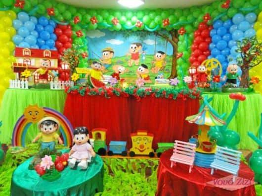 Aniversário turma da Mônica com balões