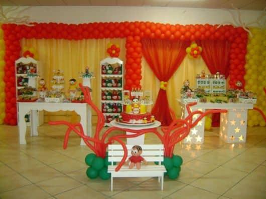 ornamentação festa turma da mônica