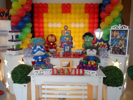 aniversário de bebê tema Vingadores