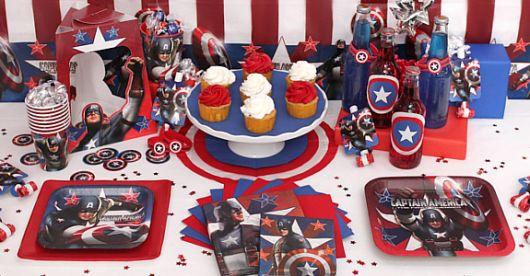 festa capitão américa barato