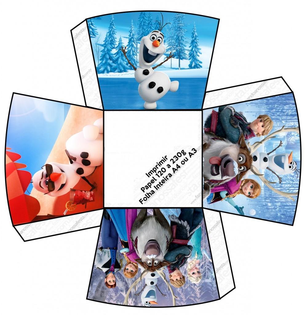Centro de mesa com personagens Frozen