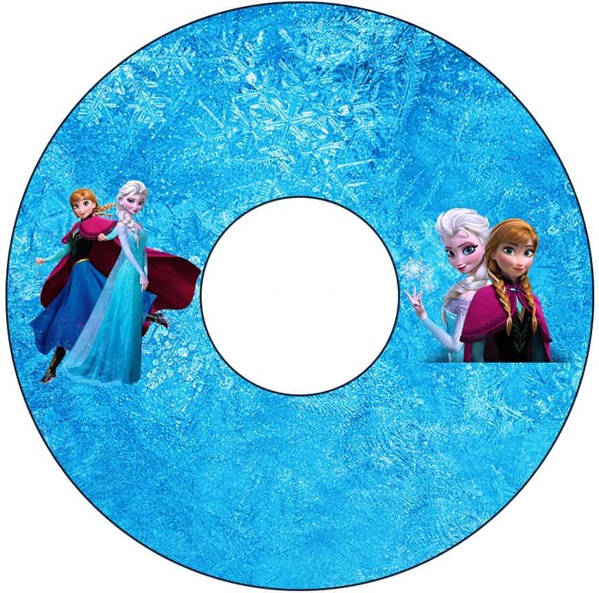 Molde de etiqueta da Frozen para imprimir - CD