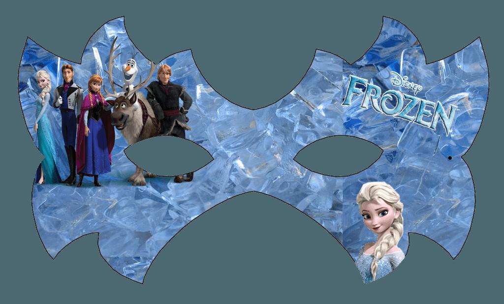 Máscara para festa Frozen