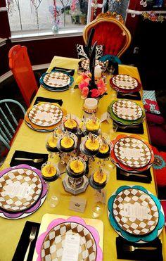 mesa de festa da bela e a fera