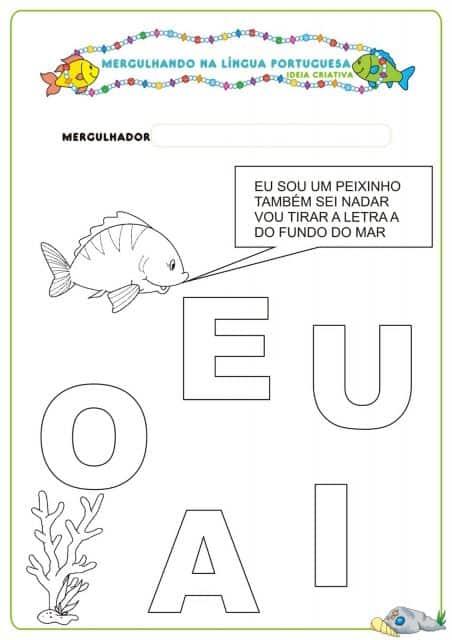 atividade de português 4 anos
