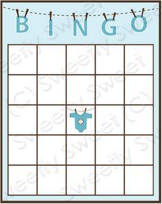 cartela de bingo para chá de bebê download