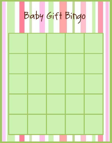 Custom Card Template » Baby Bingo Card Template - Free Card
