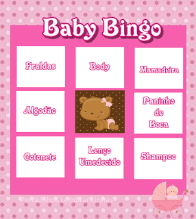 bingo chá de bebê para imprimir