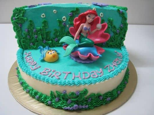 bolo de aniversario ariel
