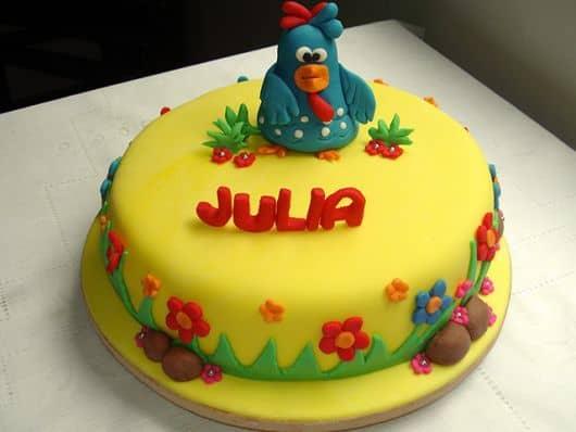 idéias de bolo galinha pintadinha
