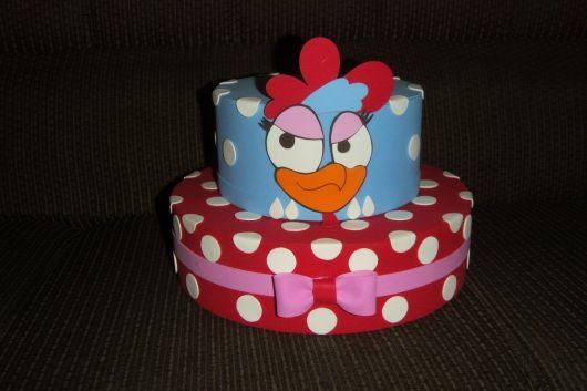 bolo galinha pintadinha de isopor