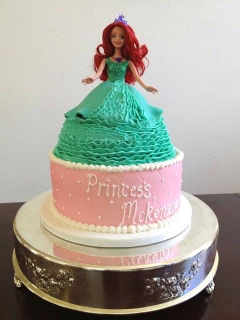 modelo de bolo princesa Ariel