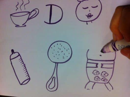 imagens de brincadeiras para chá de bebê