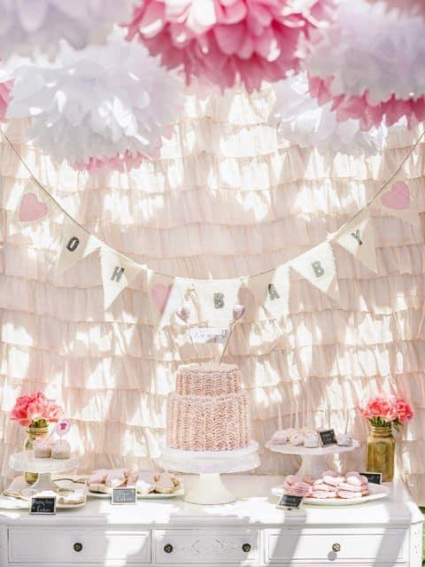 imagem de festa do bebê menina