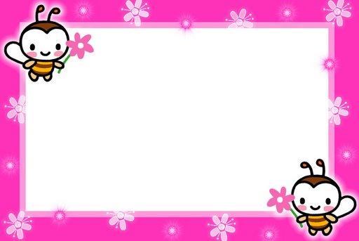 convite rosa abelhinha para menina