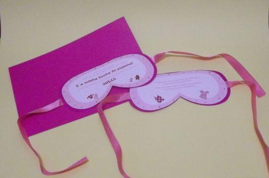 convite temático de pijama feminino