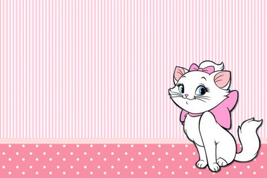 convites de festa da gatinha marie